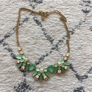 J crew green necklace
